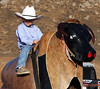 Chris Shivers, watch out!<br /> <br /> (Aug. 27, 2009) Future bullriding champ?